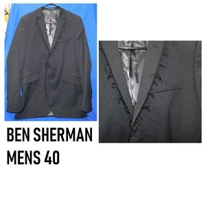 Mens BEN SHERMAN Distress Suit Jacket 40